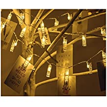 8.2Feet 20LED Photo Clip String Lighting for Hanging Picture, Card, Art and Memos Battery Operated Starry Light for Wedding, Party and Home Deco