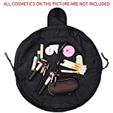 Quick Makeup Bag,Lazy Round Toiletry Bag Cosmetic Organizer Pouch Case by SKYNEW,Black