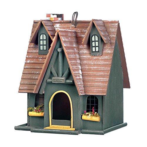 Songbird Valley Small Birdhouse, Hanging Storybook Outdoor Finch Modern Garden Wren Birdhouse (Sold by Case, Pack of 4)