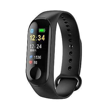 Temco M3 Reloj Inteligente Bluetooth con Pantalla en Color Ritmo Cardiaco y Presión Arterial: Amazon.es: Electrónica