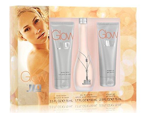 Glow by JLo Set- 2.5 Fl oz body lotion ,Glow 1.7oz eau de toilette natural spray vaporisateur, 2.5 Fl oz Shower Gel, Shower Douche (Jennifer Lopez Glow Gift Set)