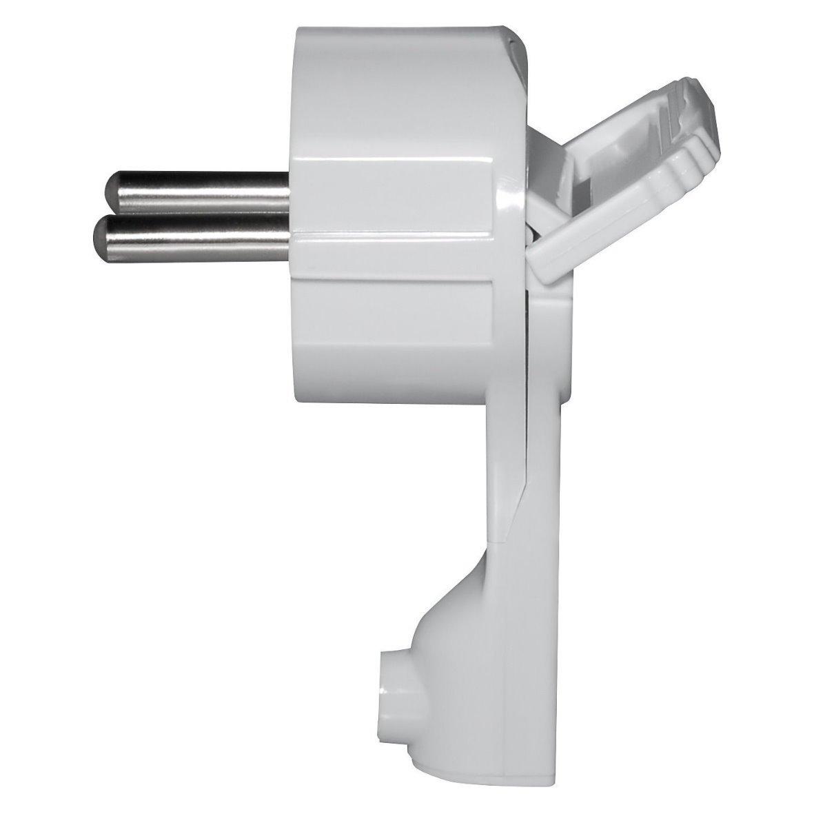 Superslim Contact de protection coud/é/ /Extra plat 8/mm/ /250/V 16/A/ /Avec poign/ée pliable et protection antitorsion/ /pour c/âble jusqu/à 3/x 1,