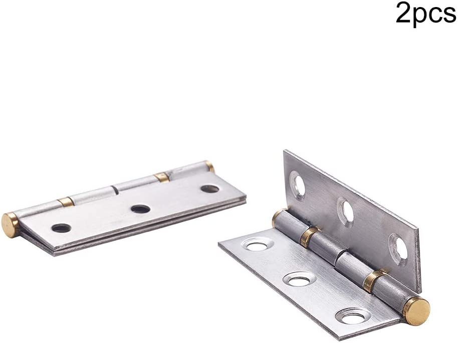 MroMax 1x 2x 4x 6x 2.5-inch Stainless Steel Folding 6040mm Door Hinges Hardware