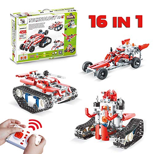 16 in 1 Remote Control STEM Building Blocks Robot - 458 PCS RC Car Kit - Kids Toys Age 6-12 - Perfect Educational Toy Gift for Kids from Sharp Kids Toys