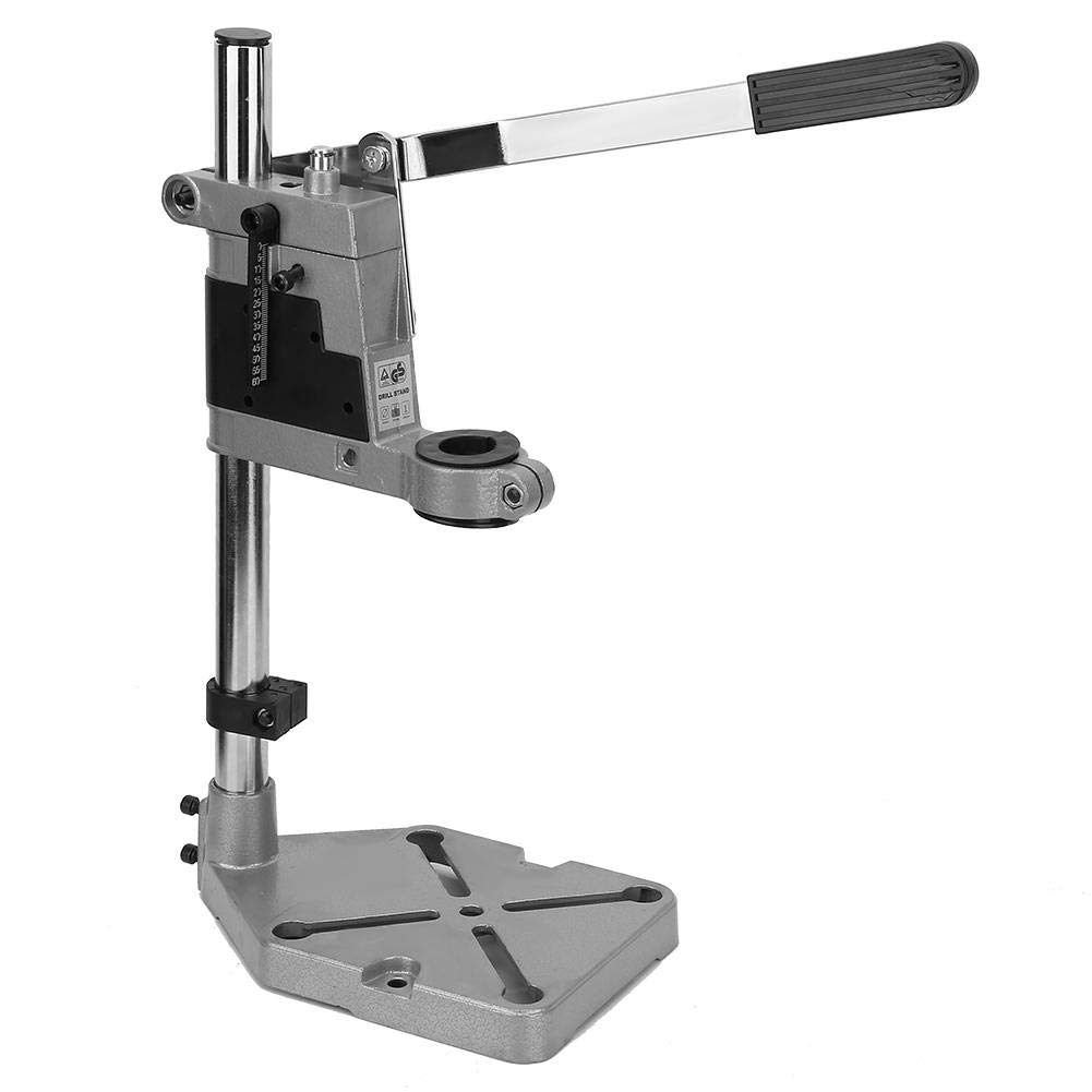 Bewinner Adjustable Drill Stand for Shop Home, Universal Bench Clamp Drill Press Stand Workbench Repair Tool for Drilling TOP, Plunge Drill Stand for 43mm or 38mm(1.7'' or 1.48'') Power Drills