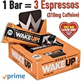 Jesse's WakeUP Caffeinated Energy Bars: Gluten Free Snack Bars (Plant-Based) Caffeine to Boost Energy, Mental Clarity, and Alertness - 100 Calorie Vegan Dark Chocolate & Rice Crisp Power Bar - 6 Pack