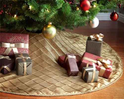 gold diamond taffeta christmas tree skirt - Gold Christmas Tree Skirt