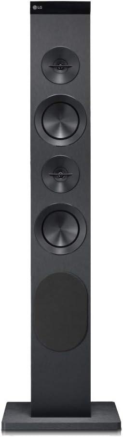 LG RK1LLK - Torre de Sonido (100 W, USB, Bluetooth, Conducto Bass Refflex, Radio FM)