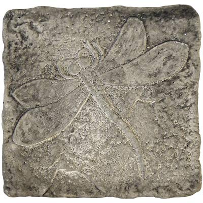 BestNest Set of 2 Athens Dragonfly Stepping Stones, Pre Aged : Garden & Outdoor