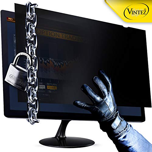 VINTEZ 24 Inch New Upgraded Computer Privacy Screen Filter for Widescreen Computer Monitor - Anti-Glare - Anti-Scratch Protector Film for Data confidentiality - We Offer 2 Different 24 Filter Sizes