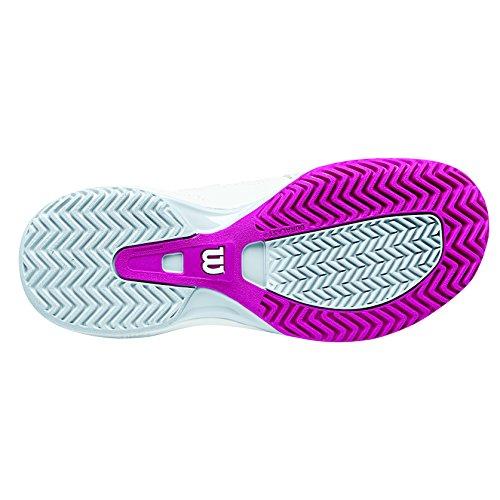 Wilson Nvision Elite Woman, Scarpe da Tennis Donna, Bianco (White/Pearl Grey/Fiesta Pink), 43 1/3 EU