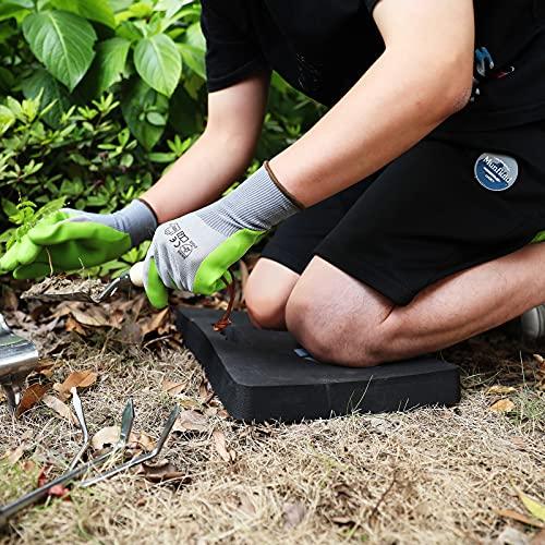 HAUSHOF Thick Kneeling Pad, Garden Kneeling Cushion for Gardening, Comfortable Memory EVA Foam Mat for Work, Planting, Yard Work, Prayer, Yoga, Mechanic, Baby Bath,17 x 11 x 1.5 Inch, Black