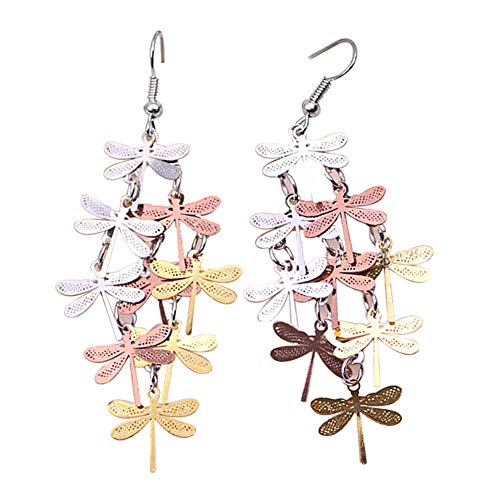 Afco Women Dragonfly Hollow Dangle Hook Earrings,Fashion Christmas Jewelry Gift 8# Dragonfly Hook Dangle Earrings