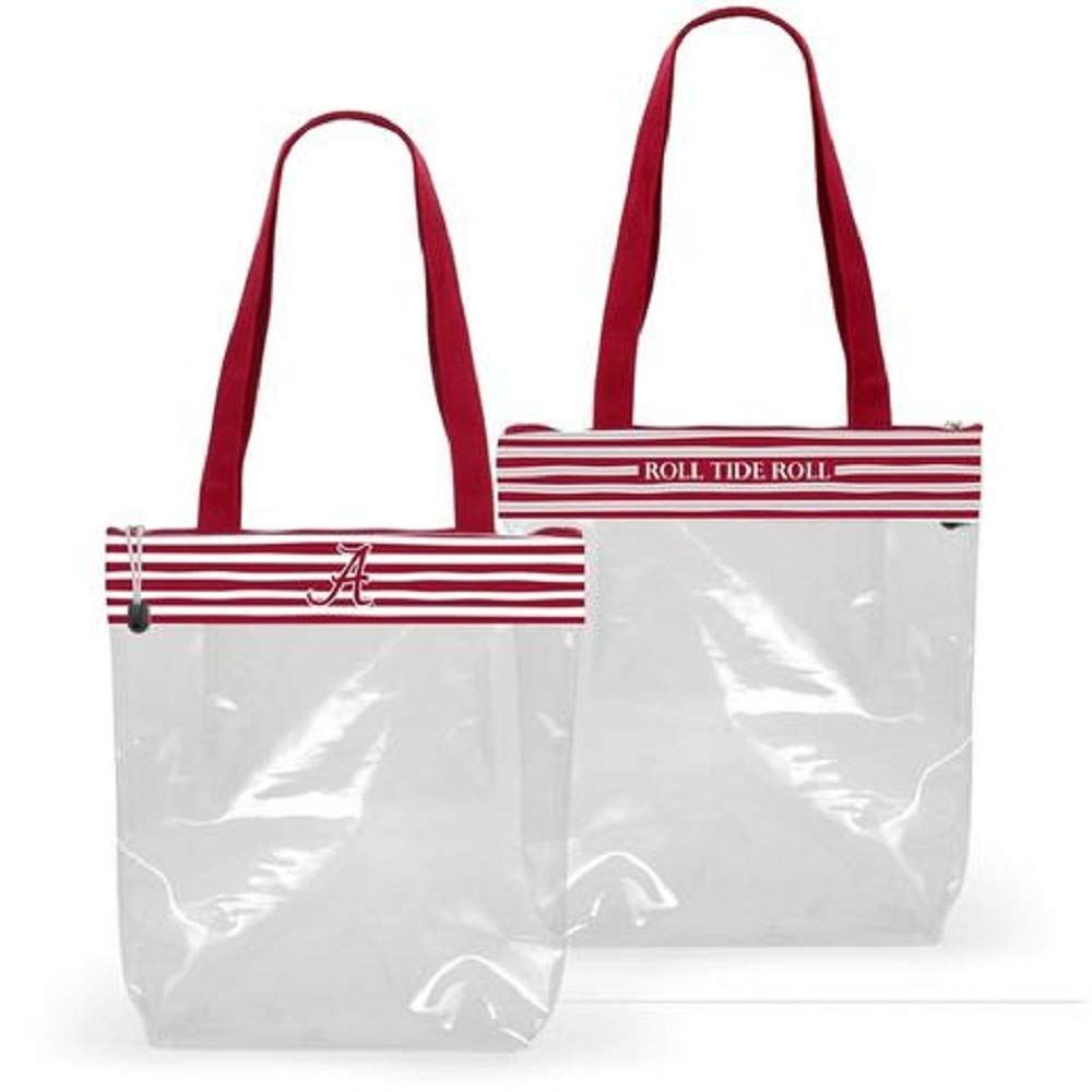 Desden Alabama Crimson Tide Clear Gameday Stadium Tote Bag
