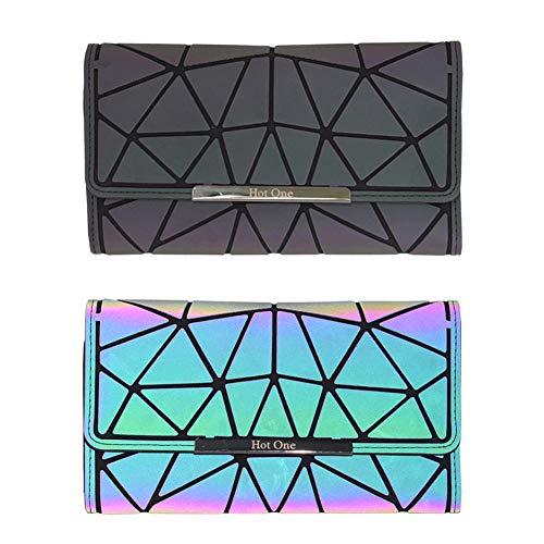 olografiche Friendly luminose Large Eco luminose HotOne Set Leather Borsette Geometric e Wallet Rainbow Lattice Shard borse Borsette x8qU7xwS