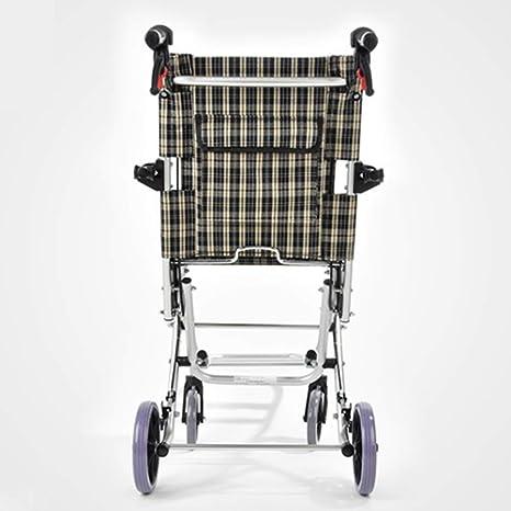 ACZZ Silla de ruedas portátil plegable de aleación de ...