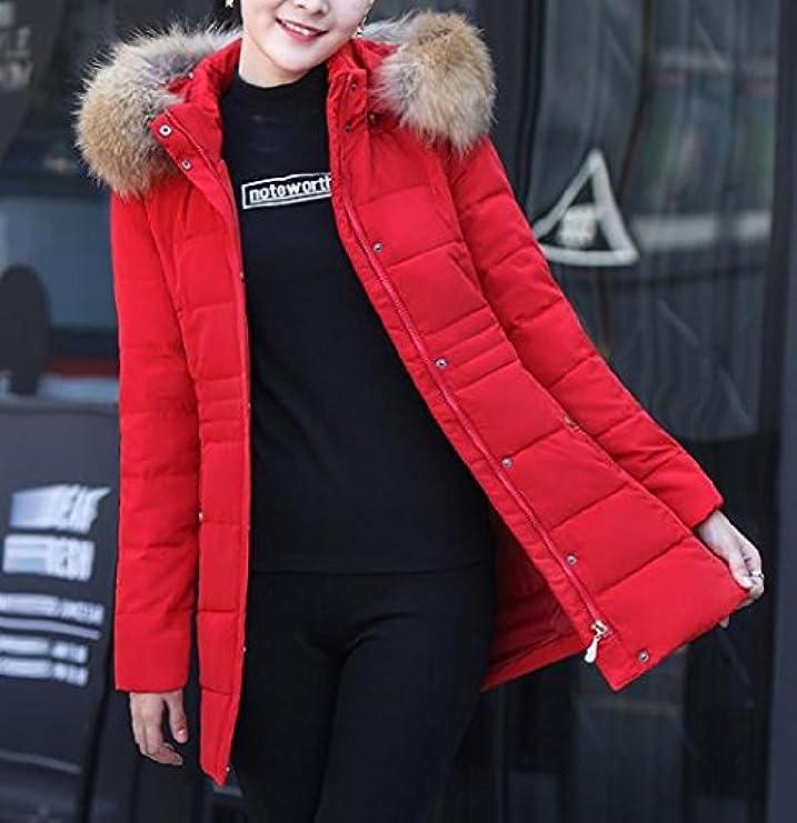 Spessa Cappotto Plus Xi Collare In Pelliccia Womens Imbottito Sheng Lunghezza Media HqXwRzw6x