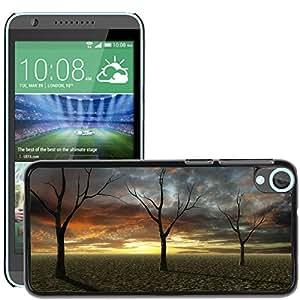 Hot Style Cell Phone PC Hard Case Cover // M00307051 Sunset Desert Dry Trees Sandy Soil // HTC Desire 820