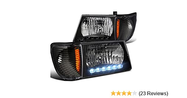 Amazon.com: Ford Econoline E150 E250 E350 Super Duty, Black Led Headlights, Corner Lights: Automotive