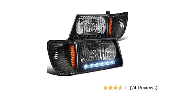Amazon.com: FORD 92-06 BLACK ECONOLINE VAN LED HEADLIGHT w/ CORNER LAMPS E250 E350: Automotive