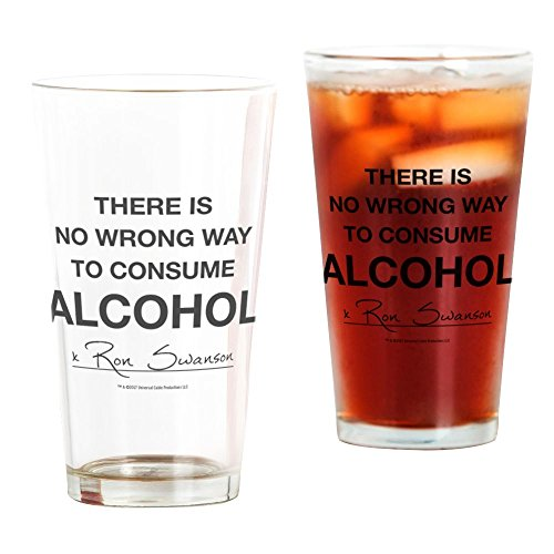 Parks and Recreation No Wrong Way Drinking Glass - Ron Swanson Quote - Official NBC Merch