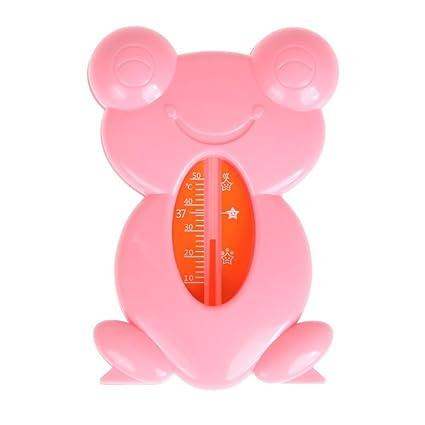 Vanpower - Termómetros flotantes de agua para bañera de bebé, sensor de riego rosa rosa