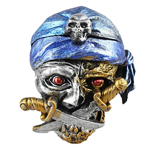 BESTOYARD Resin Skull Ashtray Halloween Skull Decoration Ornament Gift -