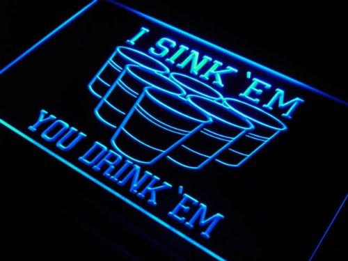 Beer Pong Sink Drink (ADV PRO j556-b I Sink 'EM You Drink 'EM Beer Pong Light)