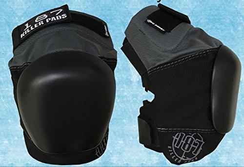 187 Killer Pads Pro Derby Knee Pad Grey-Black (Medium) by 187 Killer Pads
