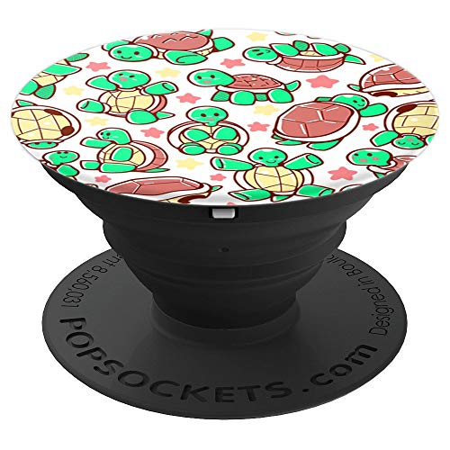 Adorable Turtle Tortoise pattern spread - PopSockets Grip and Stand for Phones and Tablets