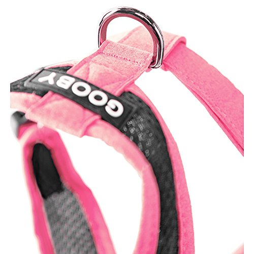 Gooby Choke Free Active X Head-in Synthetic Lambskin Soft Harness for Small Dogs, Pink, Small by Gooby (Image #3)