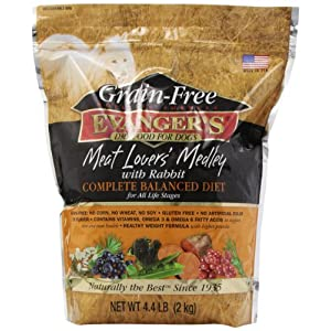 Evanger'S Grain Free Meat Lover'S Medley With Rabbit Dry Dog Food, 4.4-Pound 71