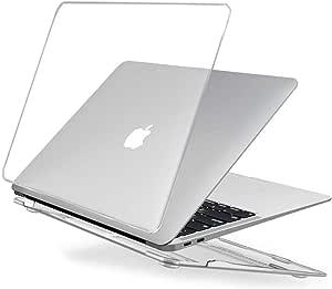 EooCoo Funda para 2020 2019 2018 MacBook Air 13 Pulgadas M1 A2337 A2179 A1932, Cubierta de Plástico Dura Carcasa para Nuevo MacBook Air 13 con Retina Pantalla y Touch ID - Cristal Transparente