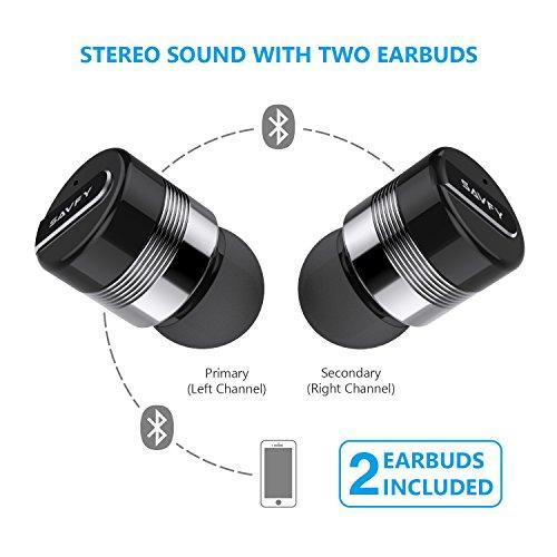 SAVFY Mini Auriculares Inalambricos, Invisible Bluetooth 4.1 Bluetooth con Micrófono y Llamadas Inalámbricas para Corriendo & iPhone: Amazon.es: Electrónica