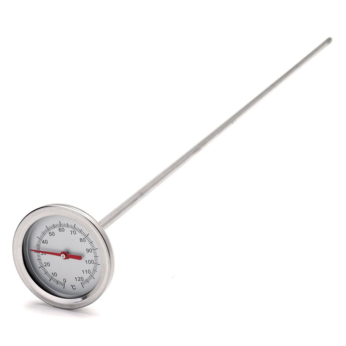 CocinaCo 0?-120 50cm Length Premium Stainless Steel Compost Soil Thermometer Soil Monitor