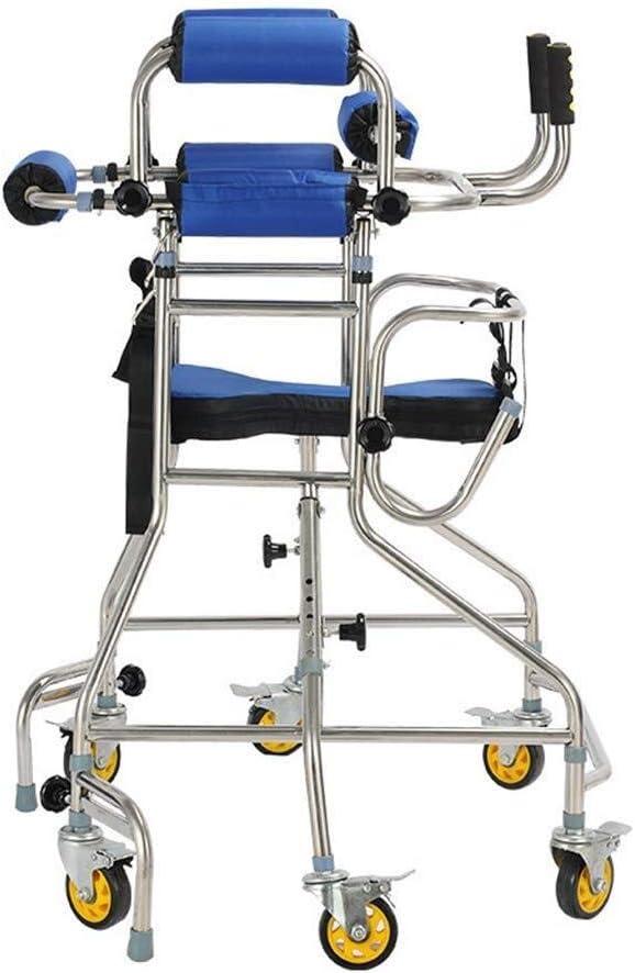 TF Altura Ajustable y Plegable de 6 Ruedas del Andador Walker con el bastón Holder, Aluminio Ligero Caminar Ayuda a la Movilidad for Personas Mayores