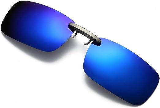 Sunglasses Flip Up Clip On Glasses Polarized Night Vision Driving Lens Eyewear