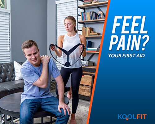KOOLFIT Back Posture Corrector – Adjustable Back Brace Corrector for Men and Women – Shoulder Pain Relief – Comfortable and User-Friendly – Supports Fast Injury Recovery – Prevents Hunching, Slouching by KOOLFIT (Image #2)
