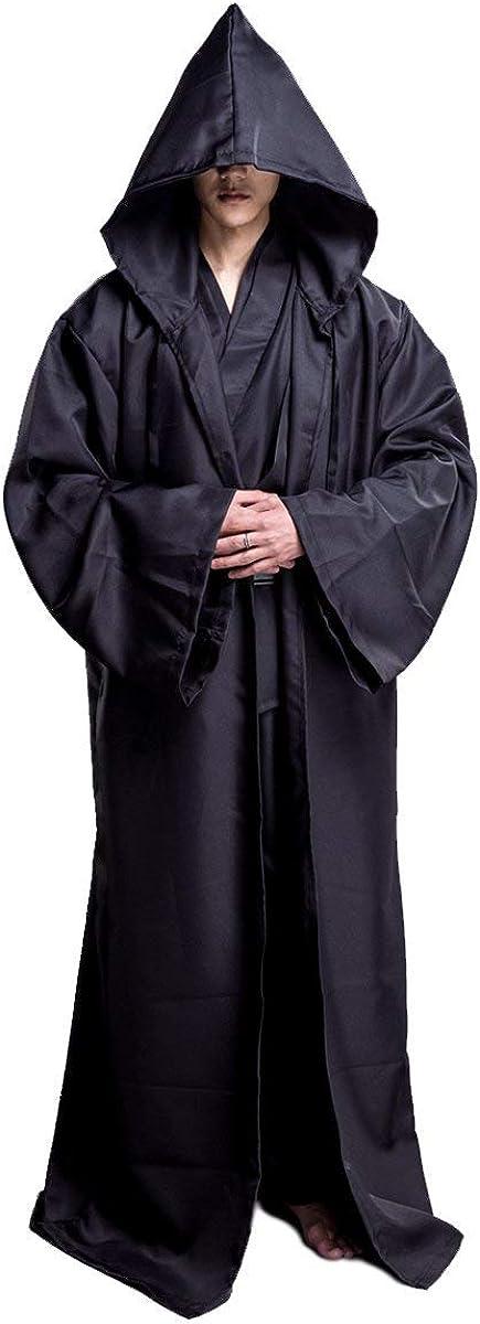 Huntfgold Mantello con Cappuccio da Uomo Jedi Knight Accappatoio Costume per Cosplay