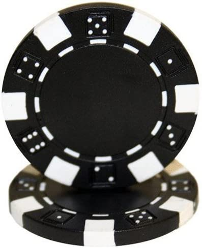 Brybelly 8 Stripe Poker Chip Heavyweight 14-Gram Clay Composite Pack of 50 Customize with Your Own 1.25 Inlay Sticker