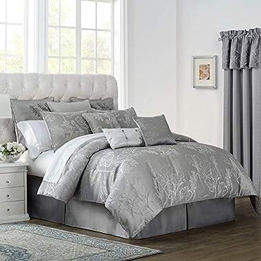 Marquis by Waterford Lauren Queen Comforter Set, Slate Grey