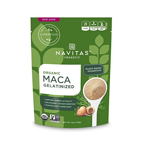 Navitas Organics Maca Gelatinized Powder, 4 oz. Bag — Organic, Non-GMO, Gluten-Free