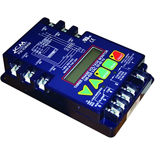 Price comparison product image ICM Controls ICM450 3-Phase Monitor, 25-Fault Memory, LCD Setup and Diagnostics, Fault Identification