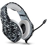 سماعة أذن للألعاب من ONIKUMA K1 مموهة PS4 سماعات رأس باس ألعاب مع ميكروفون لأجهزة الكمبيوتر المحمولة وأجهزة الكمبيوتر اللوحية Xbox One