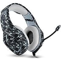 سماعة الراس اونيكيوما كيه 1 بي اس 4، سماعات الالعاب، مع ميكروفون للهاتف المحمول، الجهاز اللوحي اكس بوكس ون