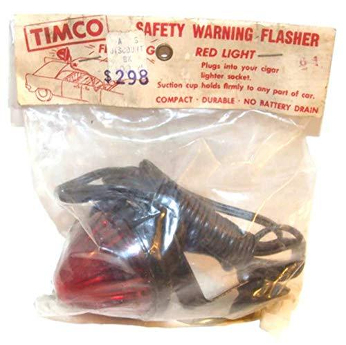 - Vintage Timco NOS Safety Warning Flasher Red Car Emergency Light