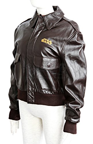 Original Movie Prop - A2 Brown Leather Ladies Crew Jacket - Star Wars: Episode I - The Phantom Menace - Authentic