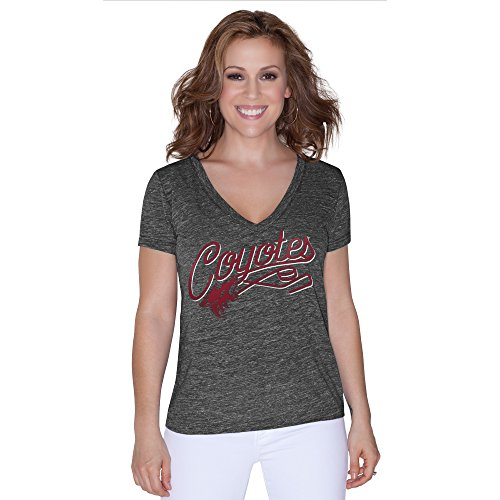 NHL Phoenix Coyotes Women's All American Tri Blend V-Neck Top, Small, Black
