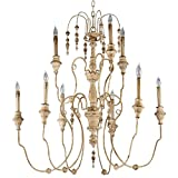 Maison French Country Antique White 9 Light Chandelier