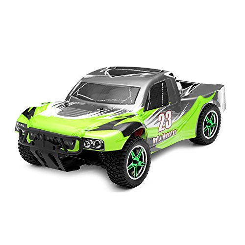 1/10th 2.4Ghz Brushless Exceed RC Rally Monster Electric RTR Racing Truck (AA Green) (Rally Game Rc)